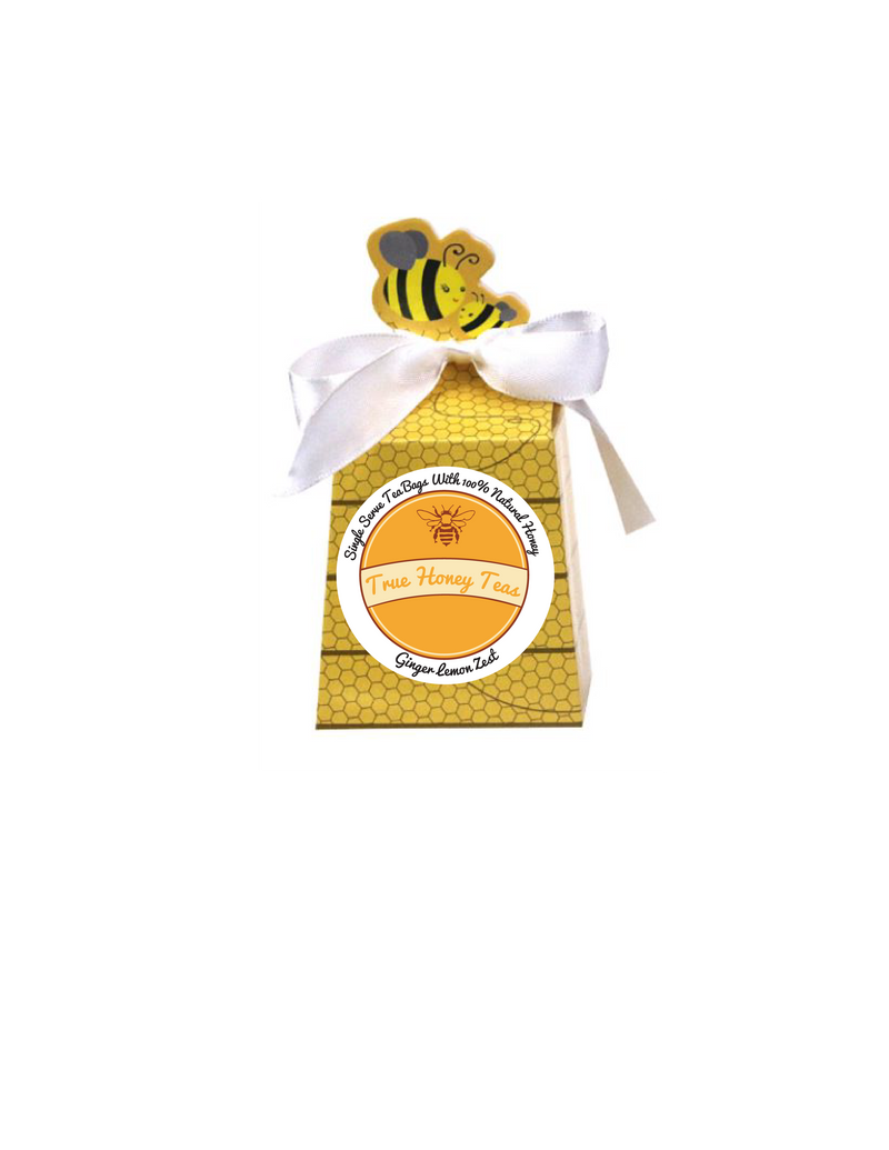 True Honey Teas (Ginger Lemon Zest) 4ct (Organic)