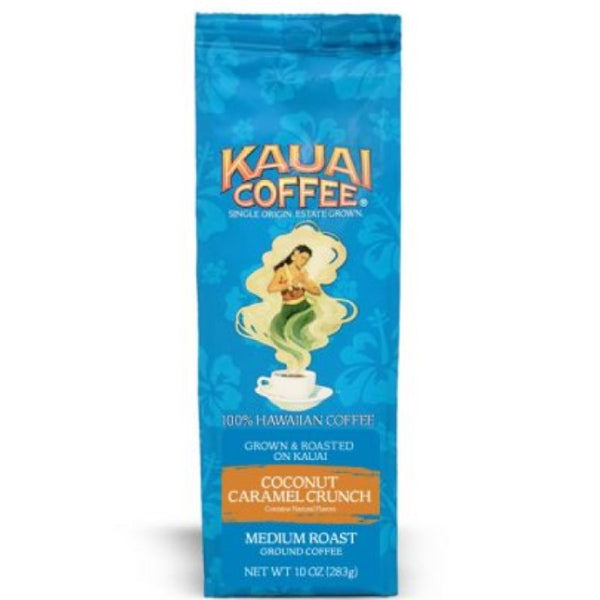 KAUAI COFFEE® Coconut Caramel Crunch Hawaiian Ground Coffee (10 oz)