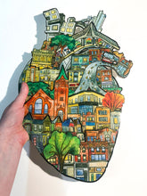 Load image into Gallery viewer, The Junction Heart - Large Resin Art - ORIGINAL ARTWORK