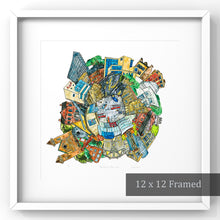 Load image into Gallery viewer, Toronto: Museums papercut artwork framed in white