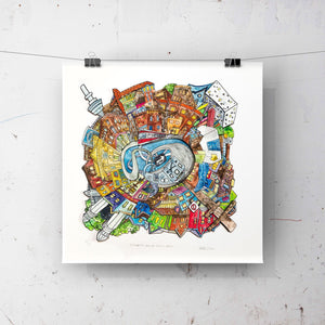 Toronto: Queen Street West - ART PRINT