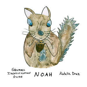 Noah the Brown Squirrel - MAGNET