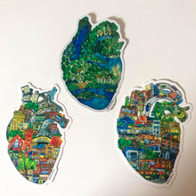 Load image into Gallery viewer, # Vinyl stickers featuring neighbourhood heart drawings