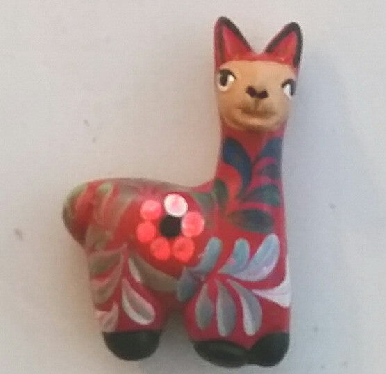 Ceramic Hand-Painted Llama Fridge Magnet