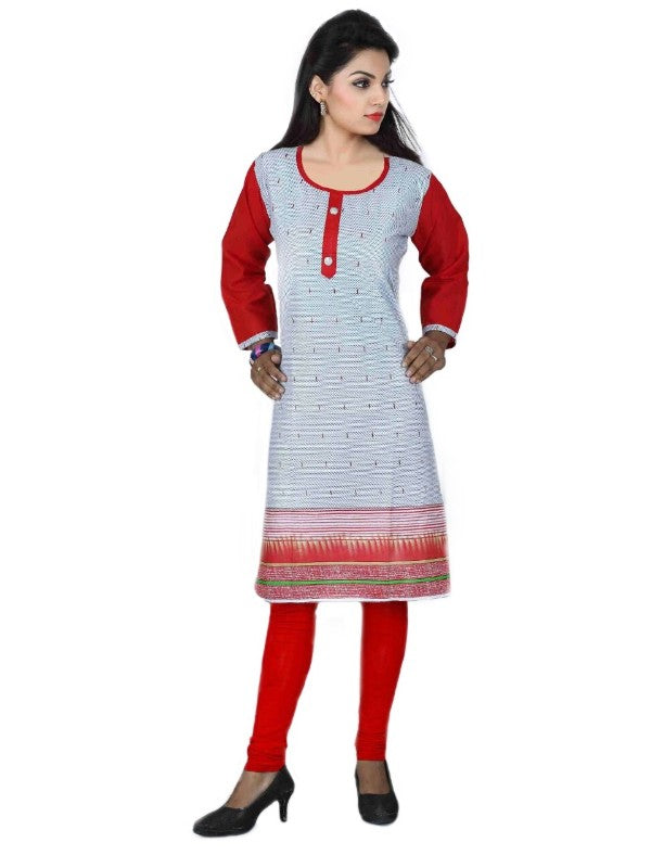 Cotton Printed Casual Women's Kurti