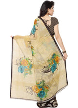 Load image into Gallery viewer, Printed Faux Georgette Brown Color Saree
