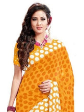 Load image into Gallery viewer, Georgette Digital Saree With Blouse-Yellow