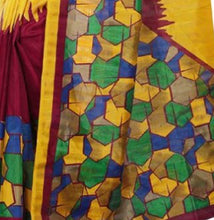 Load image into Gallery viewer, Printed Bhagalpuri Art Silk multicolor Saree