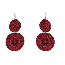 Load image into Gallery viewer, Generic Women's Brass Earrings (Red, free Size)