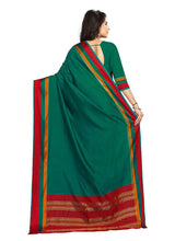 Load image into Gallery viewer, Generic Women's Handloom Cotton Soft Silk Saree (Green, 5.5-6mtrs)