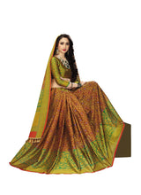 Load image into Gallery viewer, Generic Women's Handloom Cotton Soft Silk Saree (Mustard , 5.5-6mtrs)