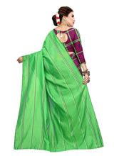 Load image into Gallery viewer, Generic Women's Polyester Cotton Saree with Blouse (Multi, 5-6 Mtrs)