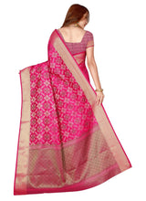 Load image into Gallery viewer, Generic Women's Kanjivaram Silk Saree with Blouse (Pink, 5-6 Mtrs)