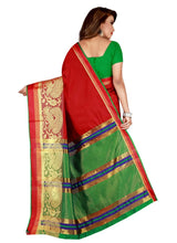 Load image into Gallery viewer, Generic Women's Poly Silk Saree with Blouse (Red, 5-6 Mtrs)