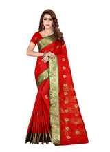 Load image into Gallery viewer, Generic Women's Cotton, Silk Saree with Blouse (Red, 5-6 Mtrs)