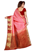 Load image into Gallery viewer, Generic Women's Nylon Silk Saree with Blouse (Peach, 5-6 Mtrs)