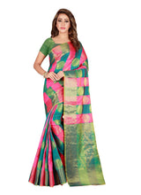 Load image into Gallery viewer, Generic Women's Banarasi silk Saree with Blouse (Multi, 5-6 Mtrs)