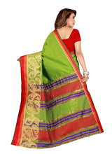 Load image into Gallery viewer, Generic Women's Poly Silk Saree with Blouse (Green, 5-6 Mtrs)