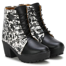 Load image into Gallery viewer, Generic Women Black,White Color Leatherette Material  Casual Boots