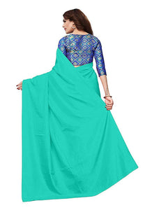 Generic Women's Zoya Silk Saree (Sea Green, 5-6 Mtrs)