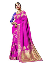 Load image into Gallery viewer, Generic Women's Banarasi Art Silk Saree With Blouse (Pink, 5-6 Mtrs)