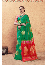 Load image into Gallery viewer, Generic Women's Banarasi Art Silk Saree With Blouse (Green, 5-6 Mtrs)