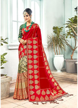 Load image into Gallery viewer, Generic Women's Banarasi Art Silk Saree With Blouse (Red, 5-6 Mtrs)