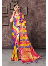 Load image into Gallery viewer, Generic Women's Uppada Art Silk Saree With Blouse (Multi, 5-6 Mtrs)