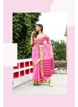 Load image into Gallery viewer, Generic Women's Supernet Art Silk Saree With Blouse (Pink, 5-6 Mtrs)