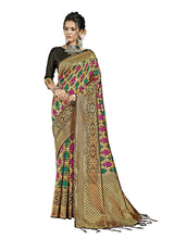 Load image into Gallery viewer, Generic Women's Banarasi Art Silk Saree With Blouse (Black, 5-6 Mtrs)