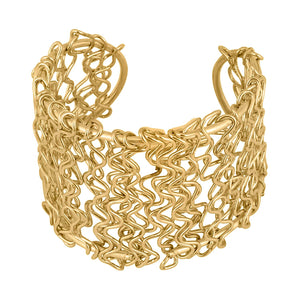Generic Women's Oxidized Gold plated  Bracelet-Gold