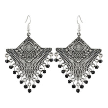 Load image into Gallery viewer, Generic Women's Silver Plated Afgani Earrings-Silver