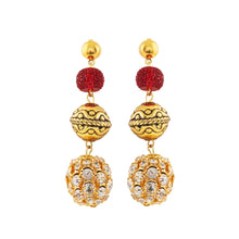 Load image into Gallery viewer, Generic Women's Gold Plated, Beads Hook Dangler Hanging Earrings-Gold