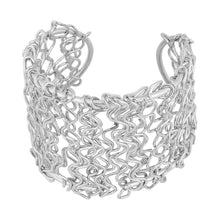 Load image into Gallery viewer, Generic Women's Contemporary Silver  Kada Bracelet-Silver