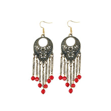 Load image into Gallery viewer, Generic Women's Gold Plated Designer Hanging Beads Earrings-Silver