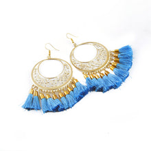 Load image into Gallery viewer, Generic Women's Gold Plated Hook Dangler Hanging Tassel Earrings-Gold