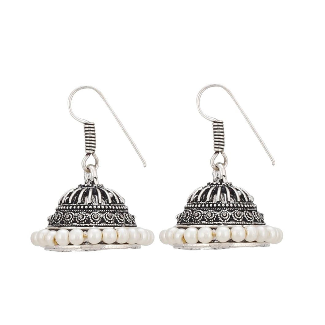 Generic Women's Alloy Hook Dangler Hanging Silver Plated Earrings-Silver