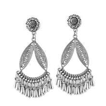Load image into Gallery viewer, Generic Women's Silver Plated Hook Dangler Hanging Earrings-Silver