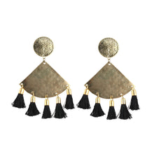Load image into Gallery viewer, Generic Women's Silver Plated Hook Dangler Hanging Tassel Earrings-Golden