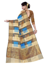 Load image into Gallery viewer, Generic Women's Cotton, Jacqaurd Saree With Blouse (Multi Color, 5-6 Mtrs)