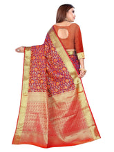 Load image into Gallery viewer, Generic Women's Banarasi Silk Saree With Blouse (Multi Color, 5-6 Mtrs)