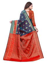 Load image into Gallery viewer, Generic Women's Cotton Silk Jacqaurd Saree With Blouse (Multi Color, 5-6 Mtrs)