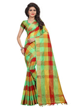 Load image into Gallery viewer, Generic Women's Silk Blend Saree With Blouse (Multi Color, 5-6 Mtrs)