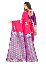 Load image into Gallery viewer, Generic Women's Banarasi silk Saree with Blouse (Pink, 5-6mtr)