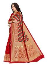 Load image into Gallery viewer, Generic Women's Banarasi silk Saree with Blouse (Multi, 5-6mtr)