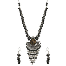 Load image into Gallery viewer, Designer Afgani German Silver Oxidized Necklace Set with Earrings