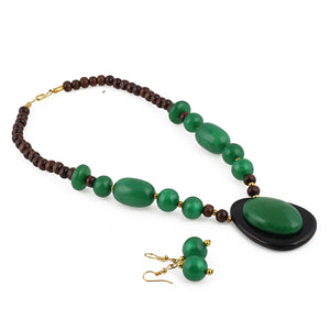 Tibetan Style Handmade Beaded Fashion Necklace with Earrings Set