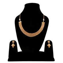 Load image into Gallery viewer, Designer Traditional Copper Gold Plated Traditional Necklace Set