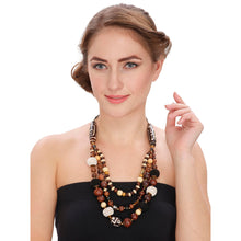Load image into Gallery viewer, Designer Tibetan Style Brown Beads Necklace