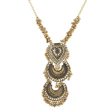 Load image into Gallery viewer, Designer Oxidized German Antique Golden Tibetan Afgani Necklace